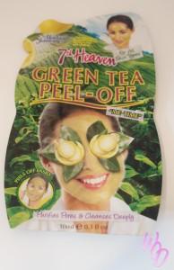 masque peel off green tea thé vert 7th heaven montagne jeunesse
